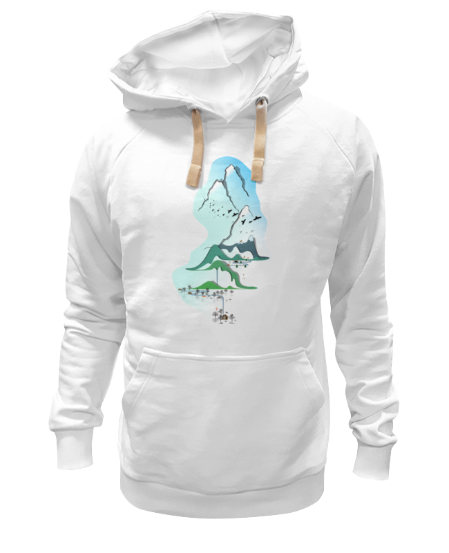 Printio Толстовка Wearcraft Premium унисекс Горы в стиле минимализма printio футболка wearcraft premium горы в стиле минимализма