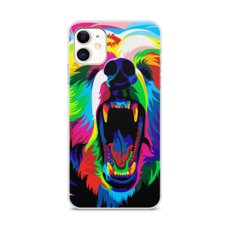 Printio Чехол для iPhone 11, объёмная печать Медведь