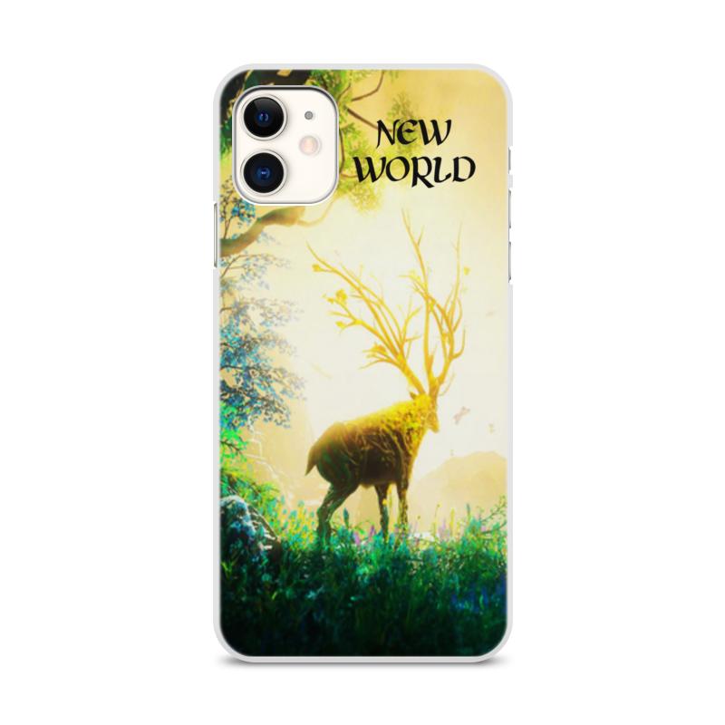 Printio Чехол для iPhone 11, объёмная печать New world
