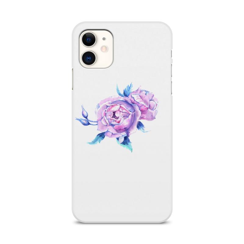 Printio Чехол для iPhone 11, объёмная печать Акварельные розы чехол