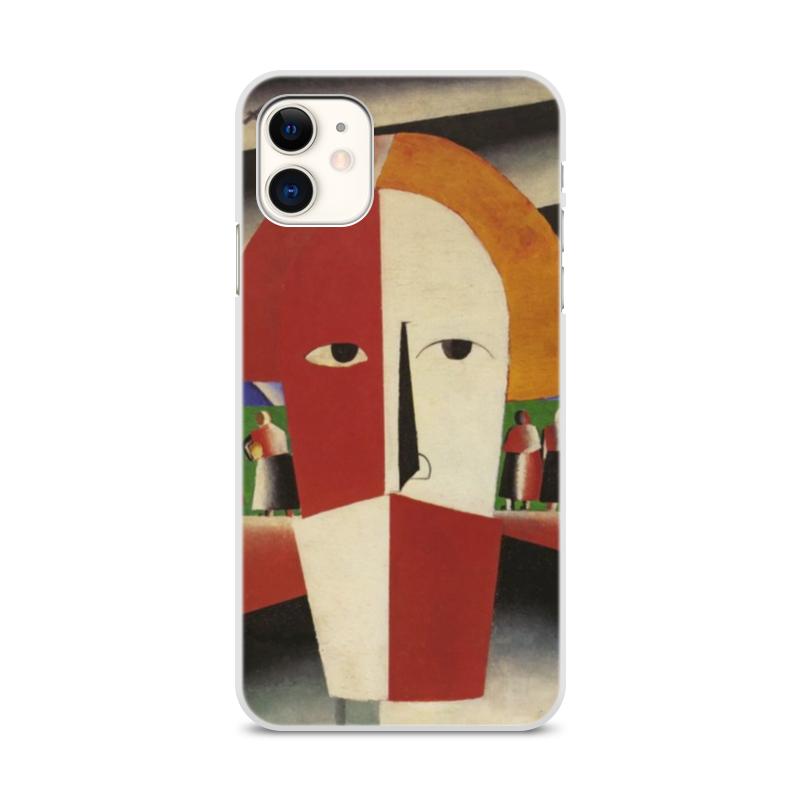 Printio Чехол для iPhone 11, объёмная печать Голова крестьянина (казимир малевич)