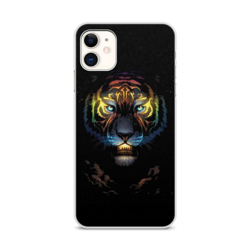 Printio Чехол для iPhone 11, объёмная печать Тигры чехол
