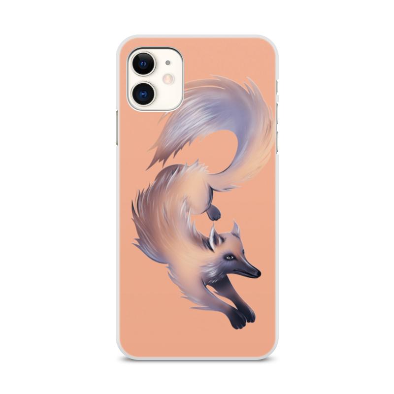 Printio Чехол для iPhone 11, объёмная печать Лиса фантазийная на розовом printio детский свитшот унисекс лиса фантазийная на розовом