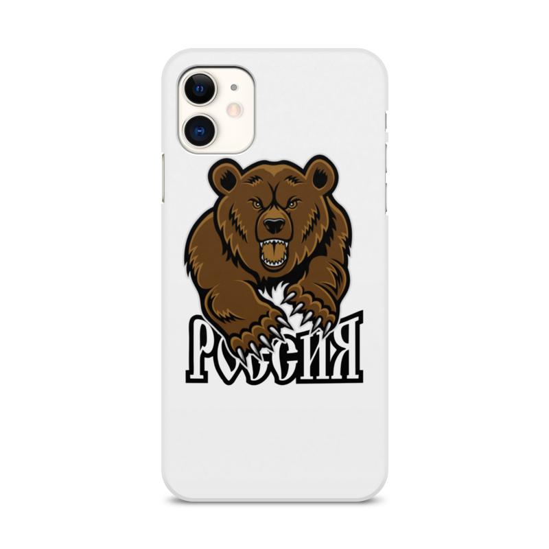 Printio Чехол для iPhone 11, объёмная печать Медведь. символика