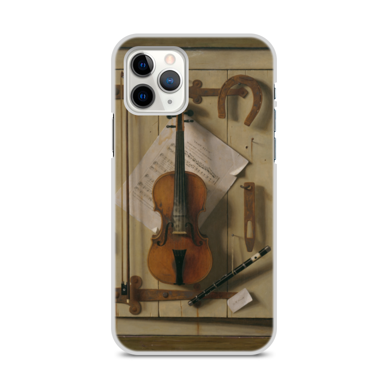 Printio Чехол для iPhone 11 Pro, объёмная печать Натюрморт со скрипкой (уильям харнетт)