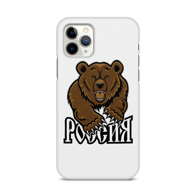 Printio Чехол для iPhone 11 Pro, объёмная печать Медведь. символика