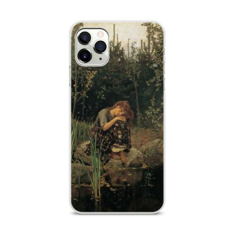 Фото - Printio Чехол для iPhone 11 Pro Max, объёмная печать Алёнушка (картина васнецова) printio чехол для iphone 11 pro max объёмная печать восточный орнамент