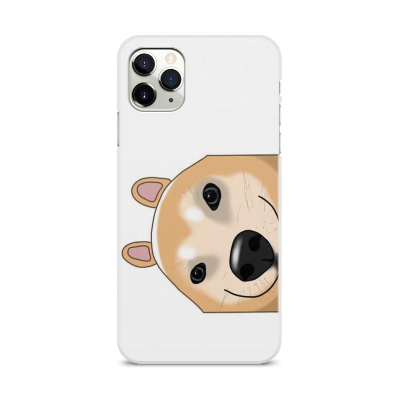 Фото - Printio Чехол для iPhone 11 Pro Max, объёмная печать С хитрой собакой printio чехол для iphone 11 pro max объёмная печать восточный орнамент