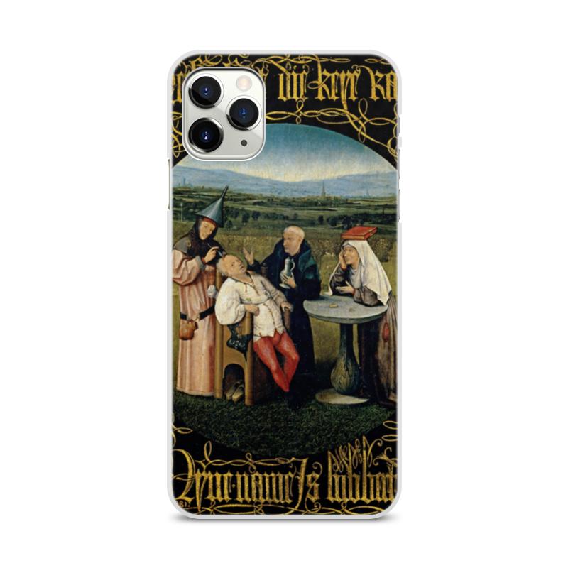 Фото - Printio Чехол для iPhone 11 Pro Max, объёмная печать Извлечение камня глупости (иероним босх) printio чехол для iphone 11 pro max объёмная печать восточный орнамент