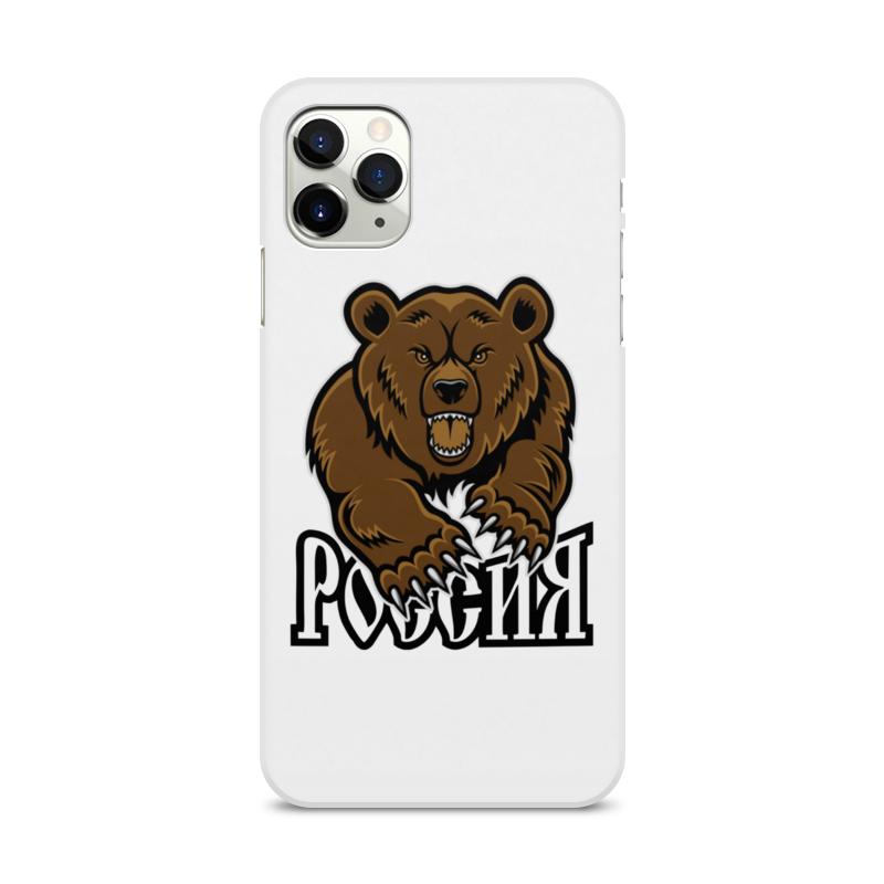 Printio Чехол для iPhone 11 Pro Max, объёмная печать Медведь. символика