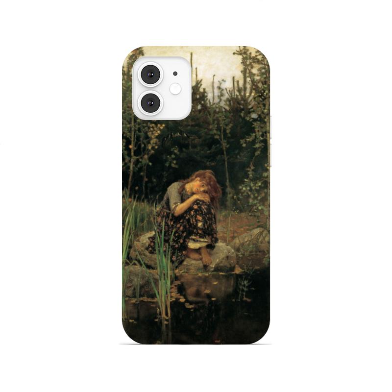 Printio Чехол для iPhone 12, объёмная печать Алёнушка (картина васнецова)
