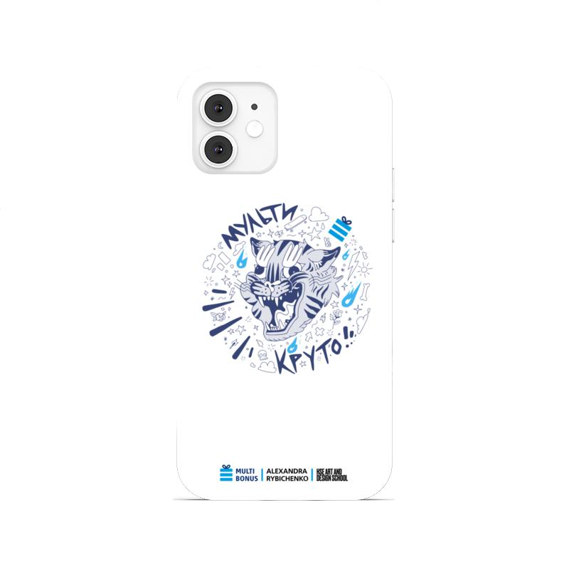 Printio Чехол для iPhone 12, объёмная печать Чехол мультикруто коллаб со школой дизайна