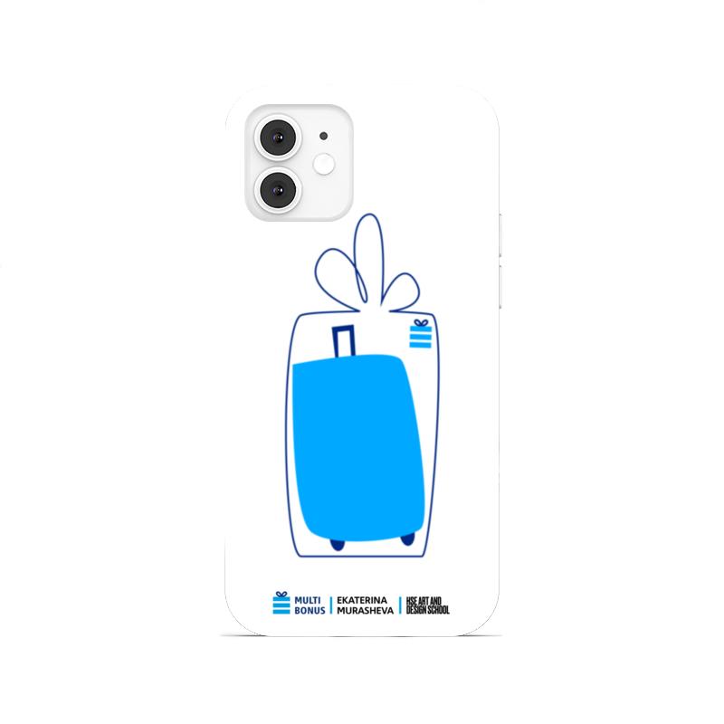Printio Чехол для iPhone 12, объёмная печать Чехол мультиподарок коллаб со школой дизайна