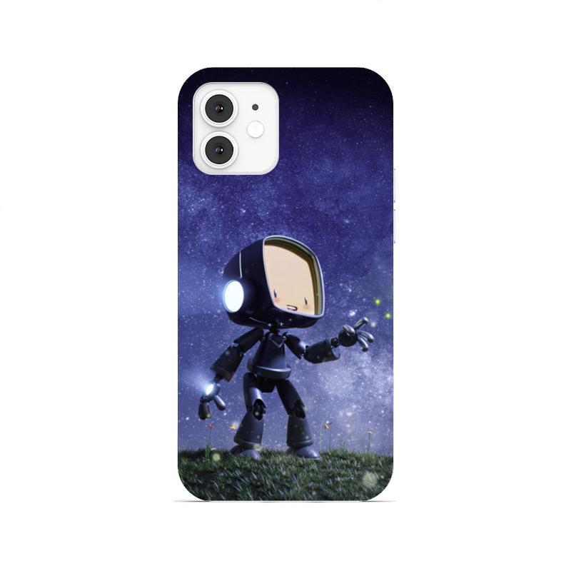 Printio Чехол для iPhone 12, объёмная печать Маленький бот