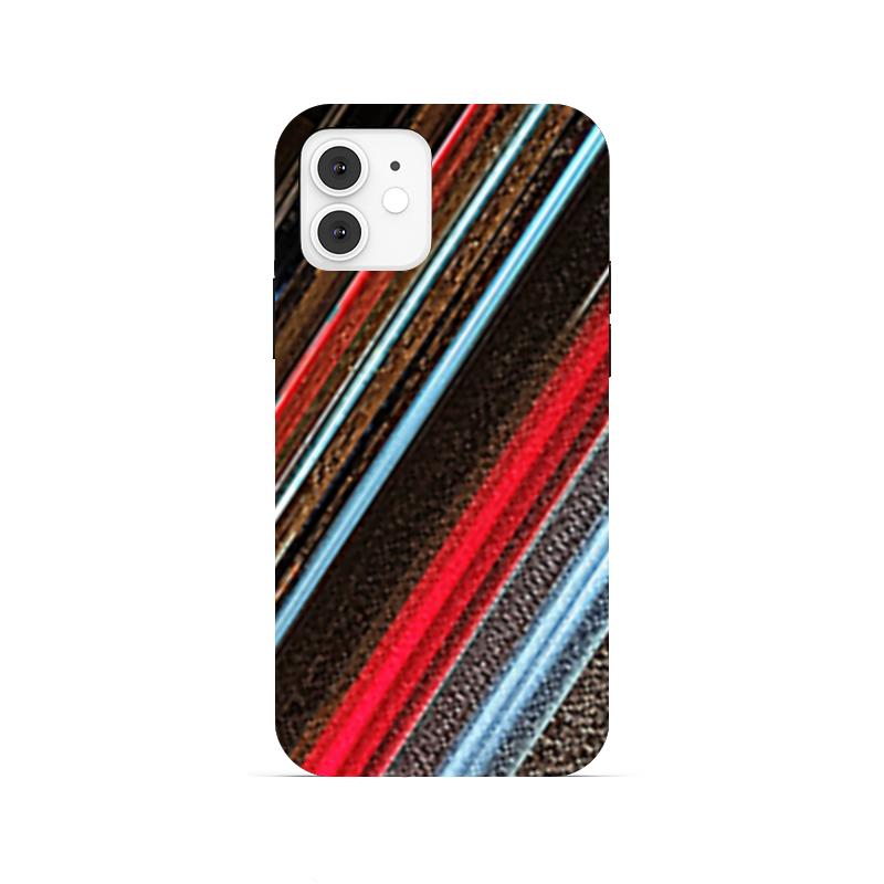 Printio Чехол для iPhone 12, объёмная печать Неоновый шум.