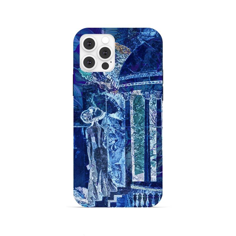 Printio Чехол для iPhone 12 Pro, объёмная печать Ночное рандеву.