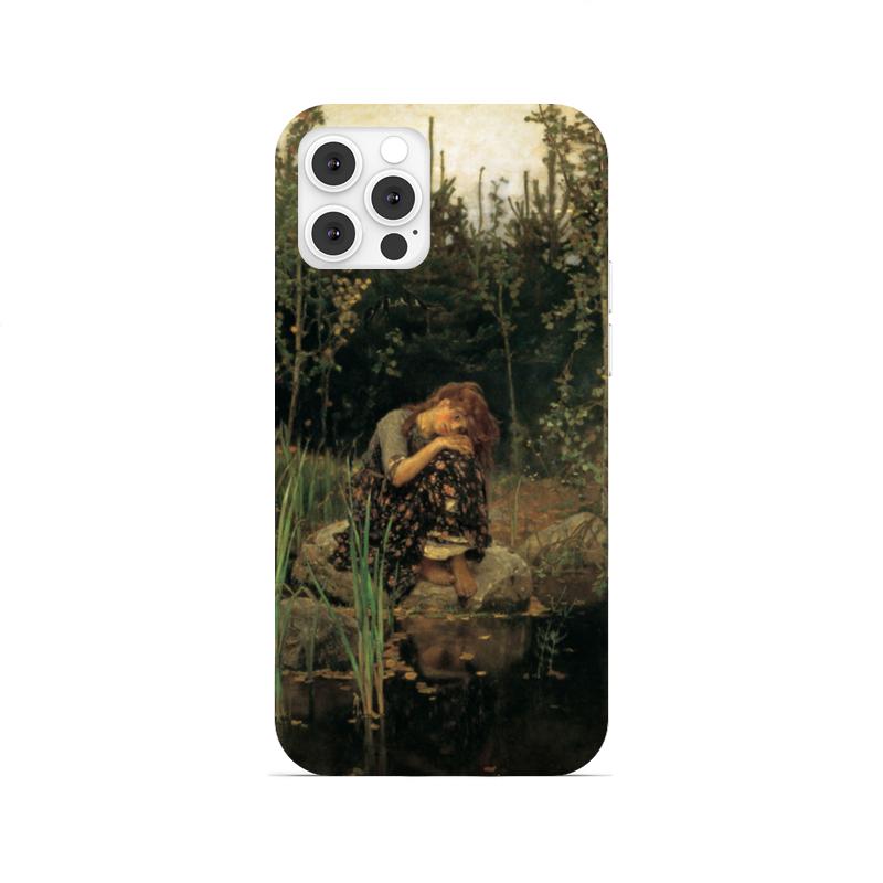 Printio Чехол для iPhone 12 Pro, объёмная печать Алёнушка (картина васнецова)