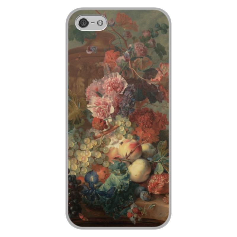 Printio Чехол для iPhone 5/5S, объёмная печать Цветы (ян ван хёйсум) printio чехол для iphone 5 5s объёмная печать цветочный натюрморт ян ван хёйсум