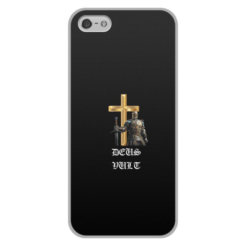 Фото - Printio Чехол для iPhone 5/5S, объёмная печать Deus vult. крестоносцы printio чехол для samsung galaxy s8 объёмная печать deus vult крестоносцы