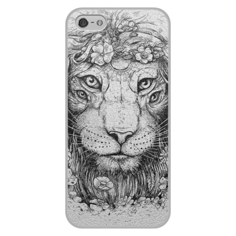 Printio Чехол для iPhone 5/5S, объёмная печать Царь природы printio чехол для iphone 5 5s объёмная печать царь николай ii борис кустодиев