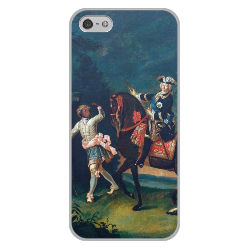 Printio Чехол для iPhone 5/5S, объёмная печать Конный портрет елизаветы петровны с арапчонком