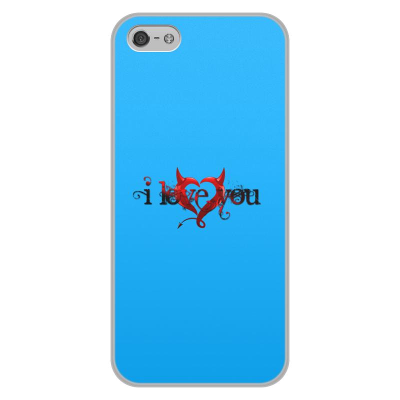 Printio Чехол для iPhone 5/5S, объёмная печать I love you