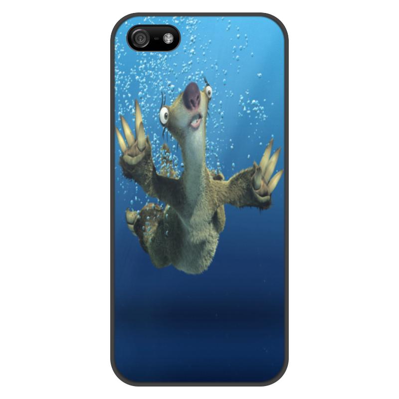 Printio Чехол для iPhone 5/5S, объёмная печать Ледниковый период (сид под водой)