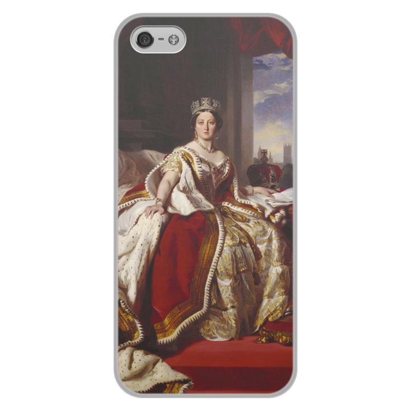 Printio Чехол для iPhone 5/5S, объёмная печать Портрет королевы великобритании виктории
