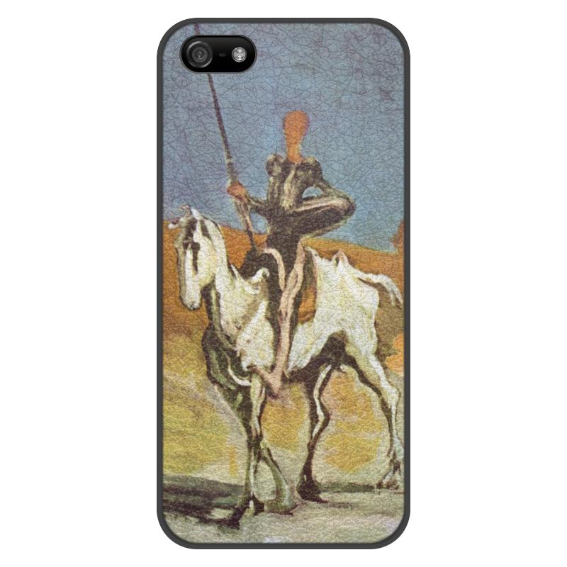 Printio Чехол для iPhone 5/5S, объёмная печать Дон кихот (картина оноре домье) printio чехол для iphone 8 plus объёмная печать дон кихот картина оноре домье