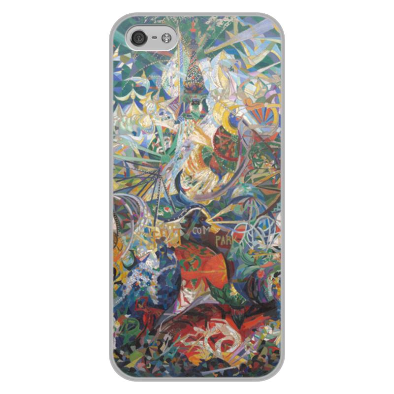 Printio Чехол для iPhone 5/5S, объёмная печать Битва огней, кони-айленд (джозеф стелла) printio свитшот женский с полной запечаткой битва огней кони айленд джозеф стелла