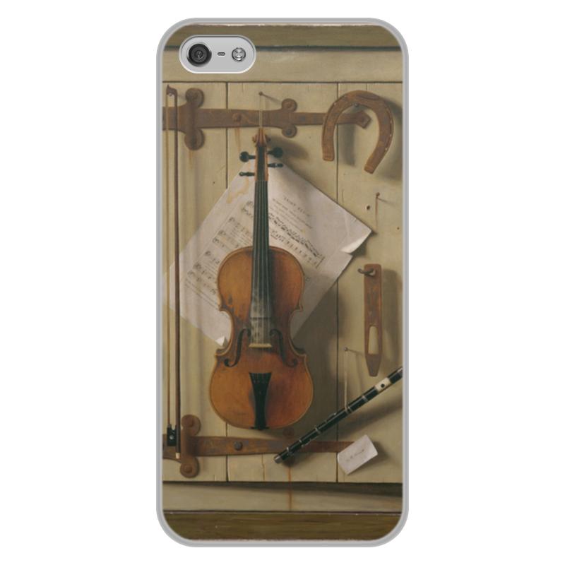 Printio Чехол для iPhone 5/5S, объёмная печать Натюрморт со скрипкой (уильям харнетт)