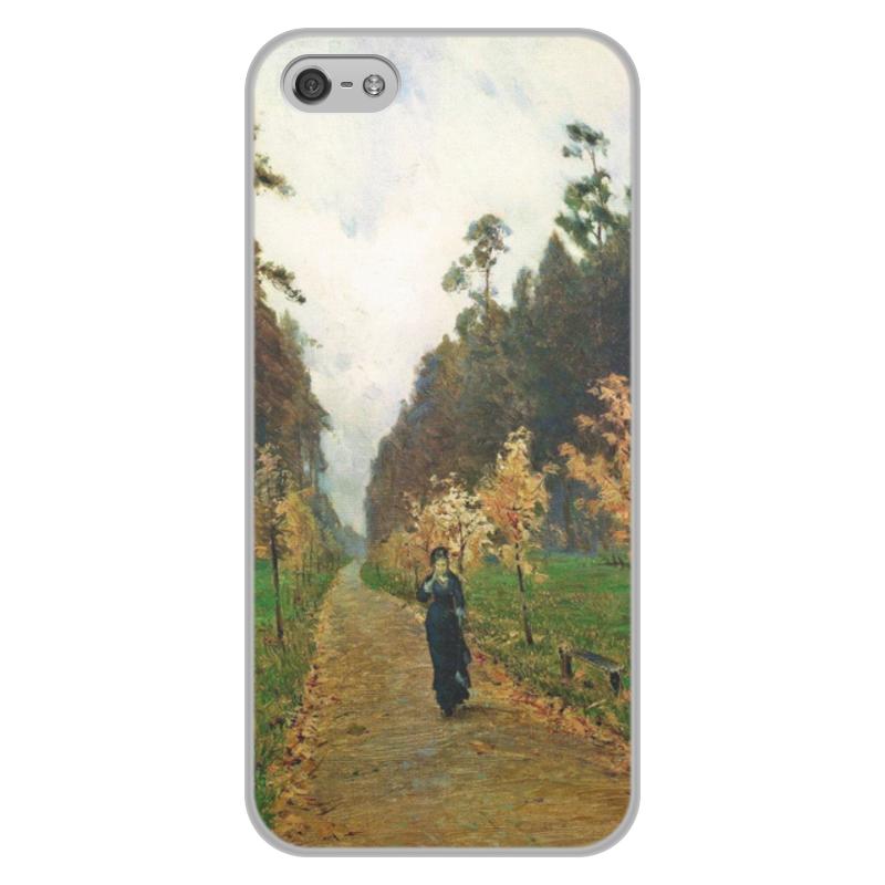 Printio Чехол для iPhone 5/5S, объёмная печать Осенний день. сокольники (левитан)