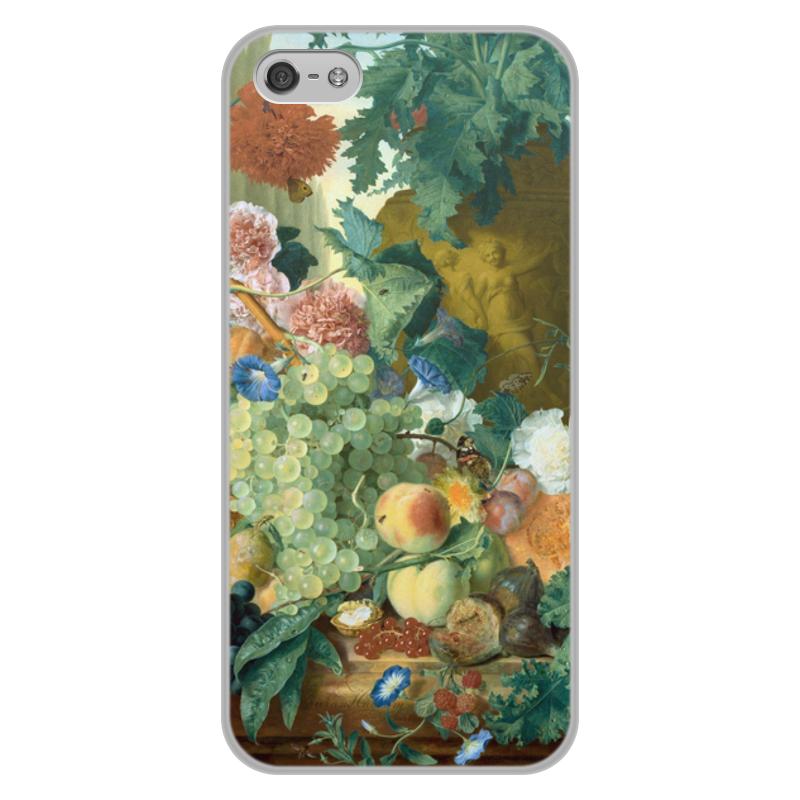 Printio Чехол для iPhone 5/5S, объёмная печать Фрукты и цветы (ян ван хёйсум) printio чехол для iphone 5 5s объёмная печать цветочный натюрморт ян ван хёйсум