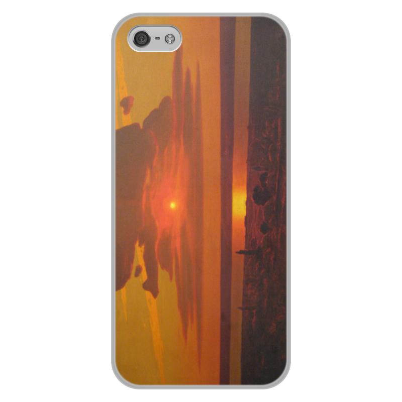 Фото - Printio Чехол для iPhone 5/5S, объёмная печать Красный закат (картина архипа куинджи) printio тетрадь на скрепке берёзовая роща картина архипа куинджи