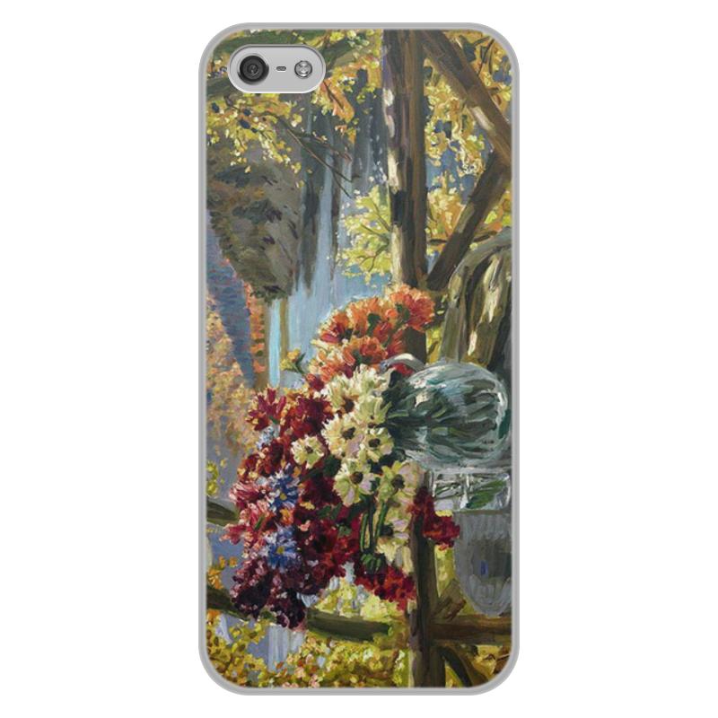 Фото - Printio Чехол для iPhone 5/5S, объёмная печать Цветы на фоне озера (картина вещилова) printio чехол для iphone 7 plus объёмная печать цветы на фоне озера картина вещилова