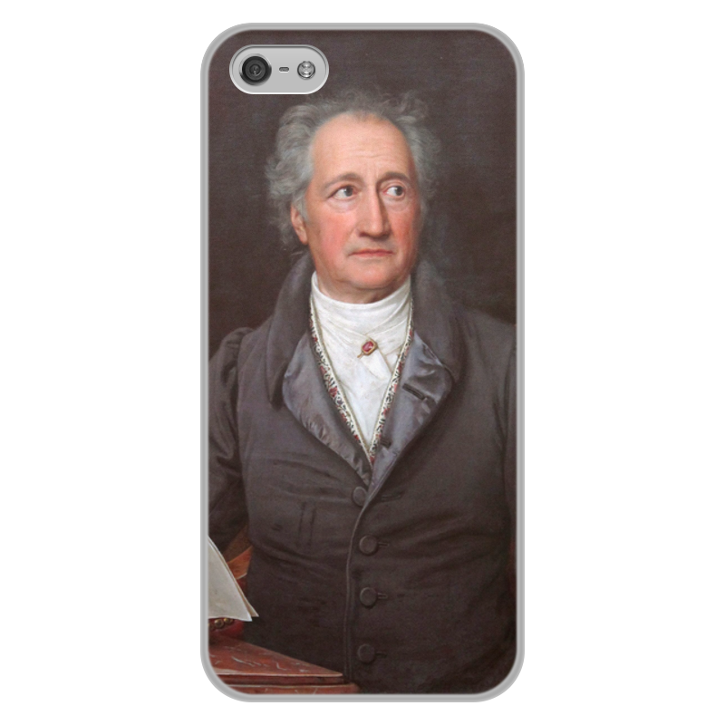 Фото - Printio Чехол для iPhone 5/5S, объёмная печать Портрет иоганна гёте (кисти карла штилера) printio чехол для iphone 5 5s объёмная печать жанна д'арк на коронации карла vii энгр