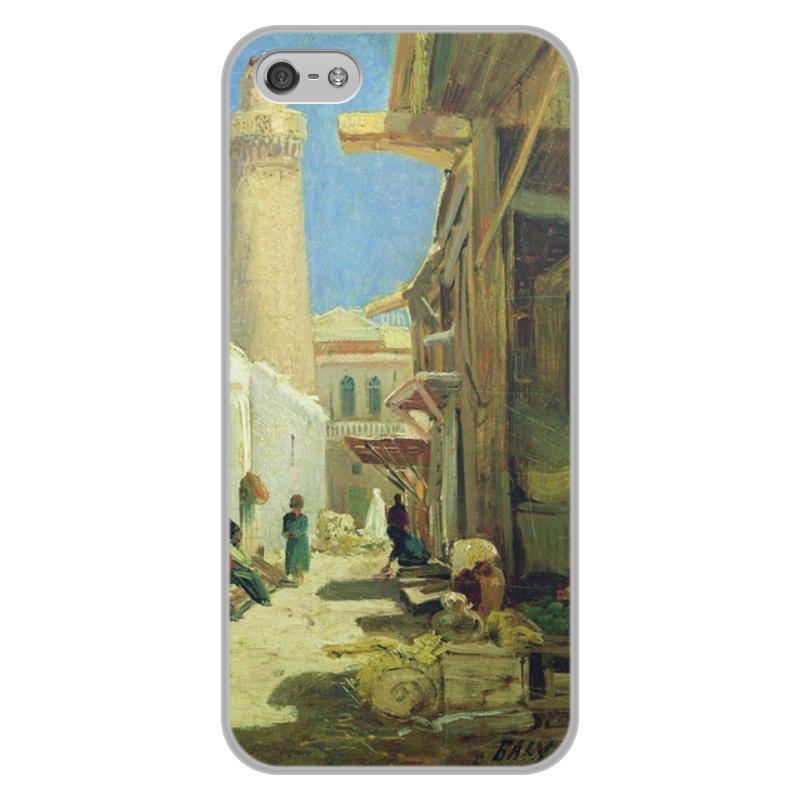 Printio Чехол для iPhone 5/5S, объёмная печать Баку. улица в полдень (алексей боголюбов)