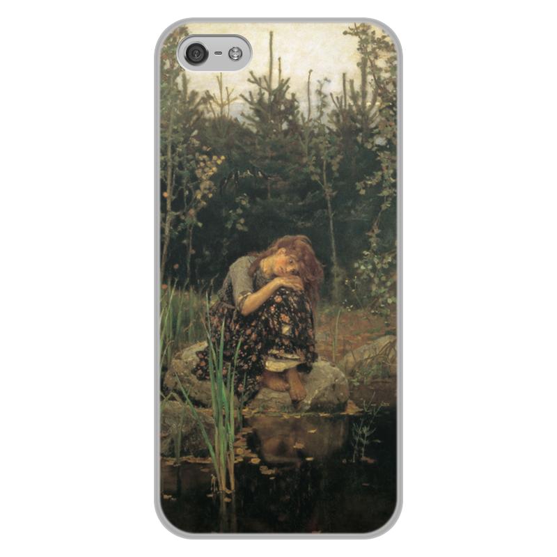 Printio Чехол для iPhone 5/5S, объёмная печать Алёнушка (картина васнецова)