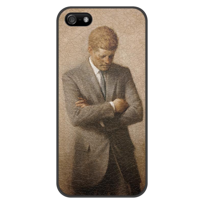 Printio Чехол для iPhone 5/5S, объёмная печать Портрет президента джона ф. кеннеди.