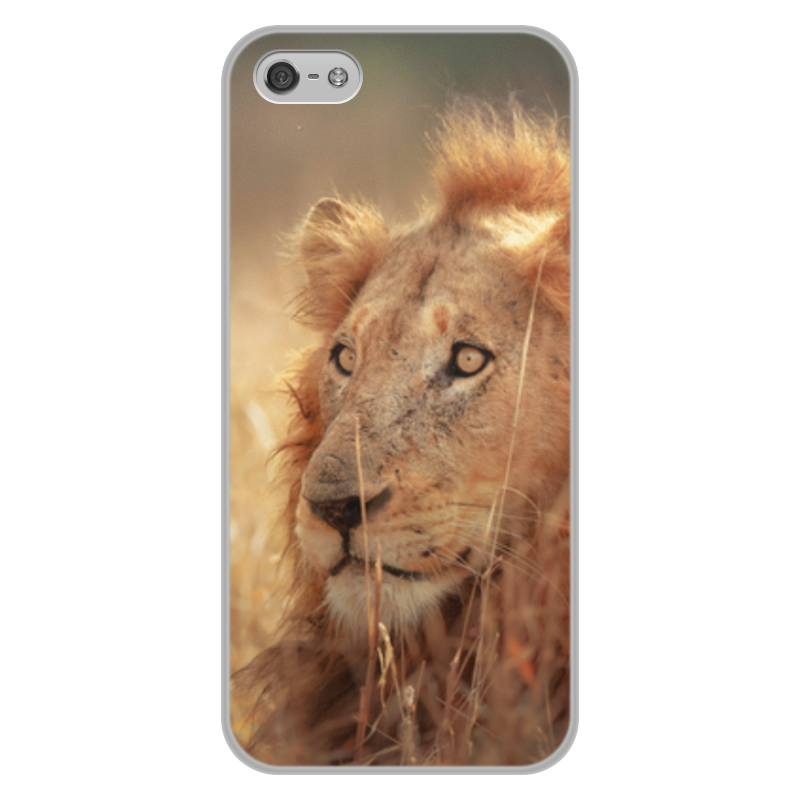 Printio Чехол для iPhone 5/5S, объёмная печать Царь зверей printio чехол для iphone 5 5s объёмная печать царь николай ii борис кустодиев