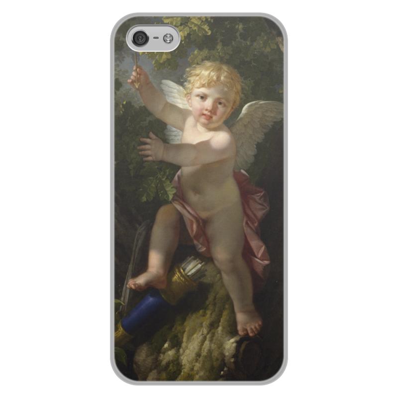 Printio Чехол для iPhone 5/5S, объёмная печать Купидон на дереве (ле барбье жан-жак-франсуа)