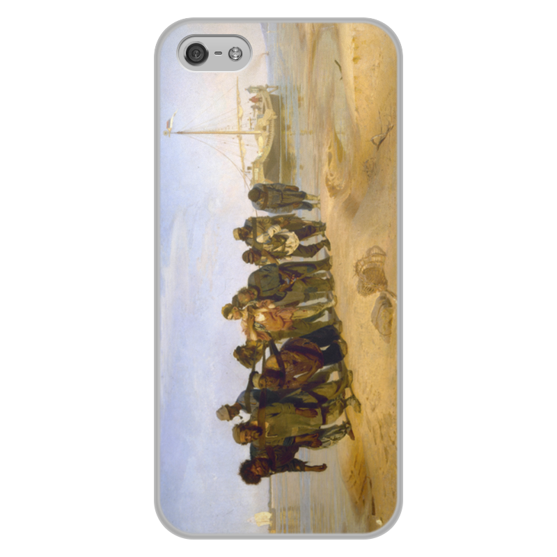 Printio Чехол для iPhone 5/5S, объёмная печать Бурлаки на волге (картина ильи репина)