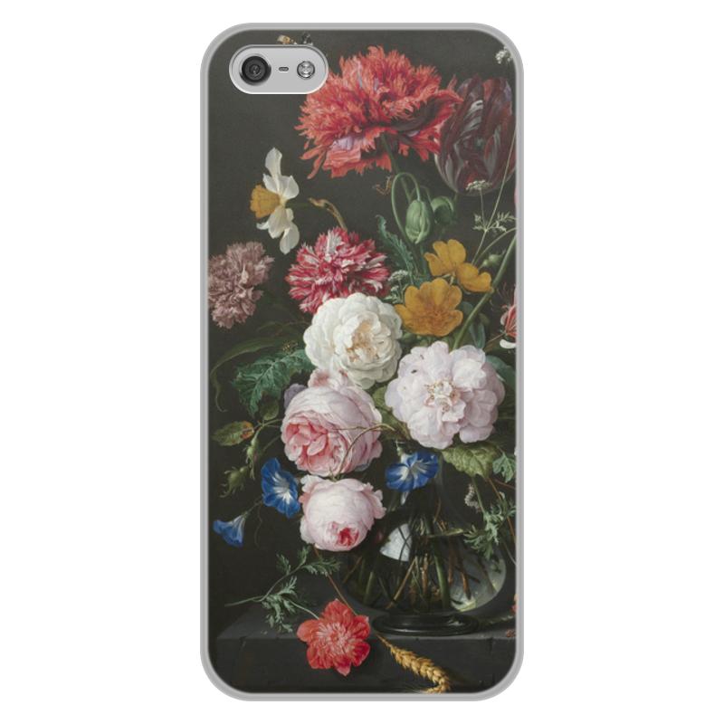 Printio Чехол для iPhone 5/5S, объёмная печать Цветочный букет в стеклянной вазе (ян де хем)