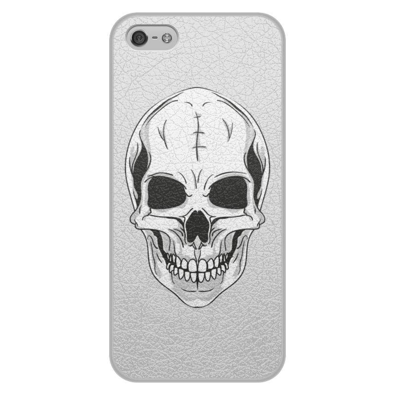 Фото - Printio Чехол для iPhone 5/5S, объёмная печать Череп printio чехол для iphone 5 5s объёмная печать жанна д'арк на коронации карла vii энгр