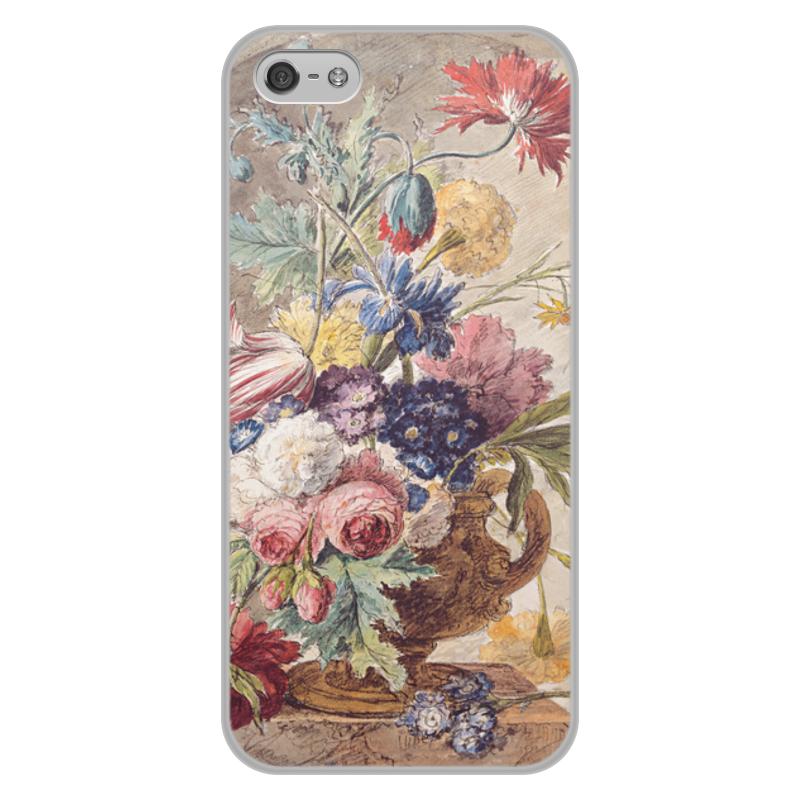 Printio Чехол для iPhone 5/5S, объёмная печать Цветочный натюрморт (ян ван хёйсум) printio чехол для iphone 5 5s объёмная печать цветочный натюрморт ян ван хёйсум