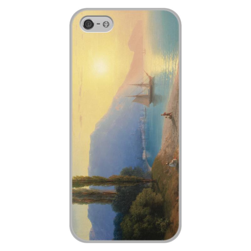 Printio Чехол для iPhone 5/5S, объёмная печать Закат в ялте (картина айвазовского)
