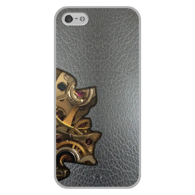 Printio Чехол для iPhone 5/5S, объёмная печать Внутренний мир телефона (шестеренки).