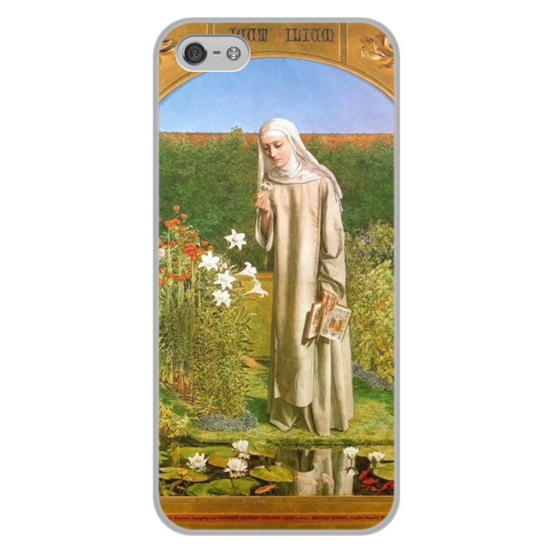 Printio Чехол для iPhone 5/5S, объёмная печать Мысли монахини (чарльз олстон коллинз)
