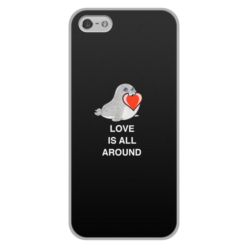 Фото - Printio Чехол для iPhone 5/5S, объёмная печать Love. тюлень. любовь. тюлень яшма красная 5 см