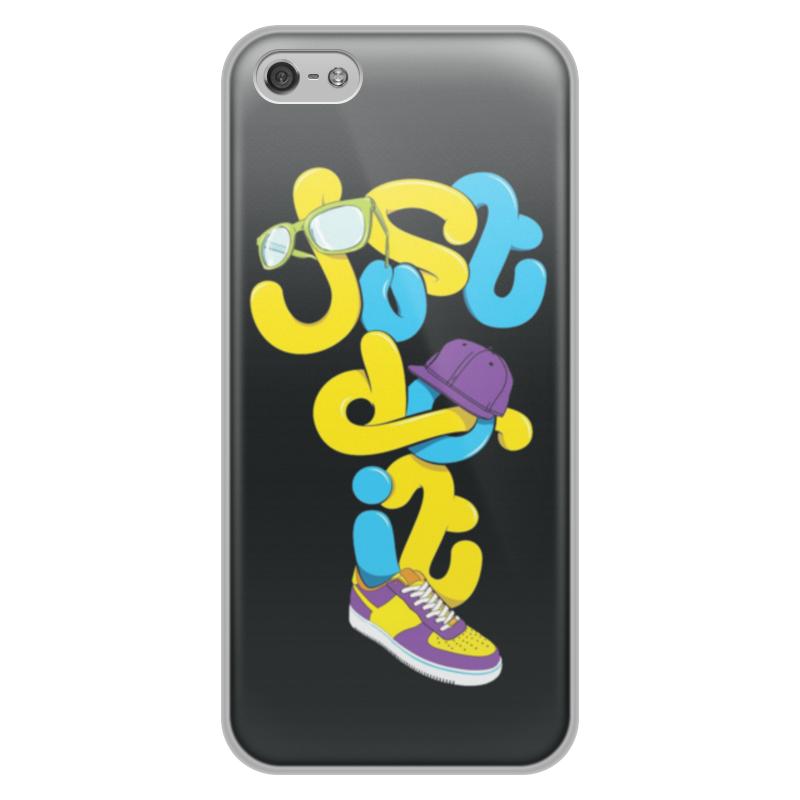 Printio Чехол для iPhone 5/5S, объёмная печать Just do it (просто сделай это)